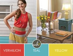 Fashion & Home Bright Combo  I've said it before and I'll say it again, I love watching the transition of fashion to home. It just goes to show how easy one coordinates with the other. Today we give you a bright palette for spring that's fun to wear AND transitions into a colorful living room too! ...  http://lcleveland.willowhouse.com