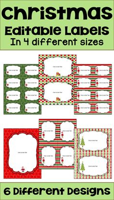 Make your own Christmas Task Cards, Word Walls, Name Tags, Labels, or Flash Cards for your classroom with these editable Christmas Labels. These labels are also great for creating Christmas themed bulletin boards and they make great gift tags as well.