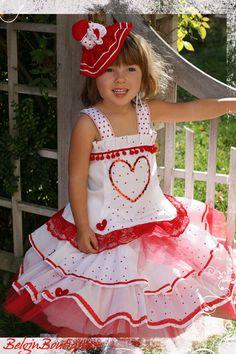 Pageant Paris Valentine Hearts Casual Glitz or by BelginBoutique Pagent Dresses, Kids Pageant Dresses, Pageant Wear, Girls Dresses, Little Girl Dresses, Flower Girl Dresses, Valentine Hearts, Valentines, Big Fashion