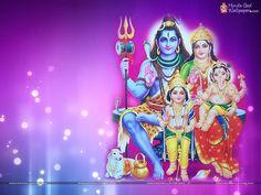 Shiva Parvati Ganesh Kartikeya Wallpaper