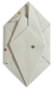 Origami Letter Crane.  Use beautiful paper.
