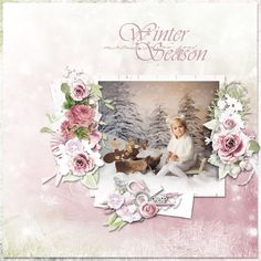 Layout using {Winter Is Here} Digital Scrapbook Kit by Eudora Designs available at PBP