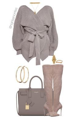 """Untitled #2774"" by highfashionfiles on Polyvore featuring Yves Saint Laurent, Topshop, Le Silla, Charlotte Russe, AMBUSH, ASOS and Rolex"