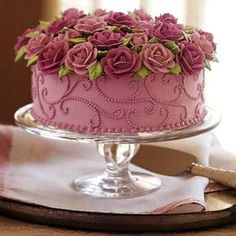 Wilton always makes such pretty cakes. Brimming With Roses Cake Gorgeous Cakes, Pretty Cakes, Cute Cakes, Amazing Cakes, Rose Cake, Floral Cake, Occasion Cakes, Buttercream Cake, Pink Frosting