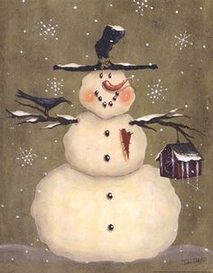 Frosty Friends ~ Fine-Art Print - Christmas Snowmen Art Prints and Posters - Christmas Pictures