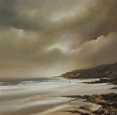 "Amber Coast, 32"" x 32"", Oil on canvas painting - part of the Pure Shores collection from Philip Gray. Find out more..."