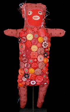 the first dolls Textiles, Fabric Animals, Monster Dolls, Guys And Dolls, Expressive Art, Assemblage Art, Button Art, Child Doll, Doll Maker
