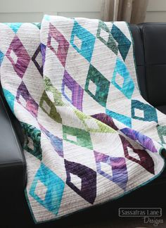 Diamond Detour in Batiks - Sassafras Lane Designs