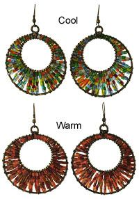 Oval-Whelmed with Kindness Earrings at Global Girlfriend