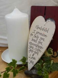 Handmade Wooden plaque Godchild by bloominfab on Etsy, £12.00 or www.bloominfab.co.uk
