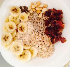Cereal:  Semillas de girasol, amaranto, avena, chia, dátiles, cacahuates y plátano.
