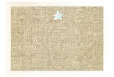 Burlap Bulletin Board, White Starfish on OneKingsLane.com