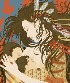 Atahensic, Diosa iroque de la maternidad