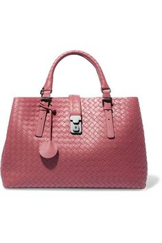 Pink leather (Calf) Push lock-fastening tab at top Designer color  Dusty  Rose Comes with dust bag Weighs approximately Made in Italy bd5206f09a959