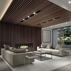 90 Best Modern Ceiling Design for Home Interior Lobby Interior, Living Room Interior, Interior Architecture, Living Room Decor, Living Rooms, Modern House Design, Modern Interior Design, Home Design, Interior Ideas