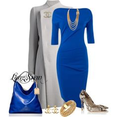 Take a look at the best what shoes to wear with royal blue dress in the photos below and get ideas for your outfits! This is beautiful, and I'd never have a reason to wear it, but yeah… Image source… Continue Reading → Mode Outfits, Dress Outfits, Fashion Dresses, Jw Mode, Mode Ootd, Modelos Fashion, Mode Style, Work Fashion, Fashion Fashion