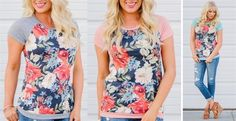The perfect weekend tee! So comfortable and cute! Only $19.99!