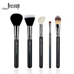 db3b4153d516f Jessup 5Pcs Beauty High Quality Pro Makeup Brush Set Foundation Duo Fibre  Contour Concealer Powder Make