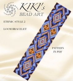 Bead loom pattern Ethnic style native inspired by KikisBeadArts