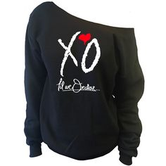 XO Til We Overdose... The Weeknd Off-The-Shoulder Oversized Slouchy Sweatshirt