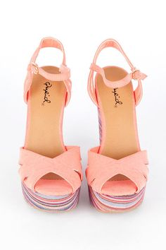 Keeper Wedges in Coral