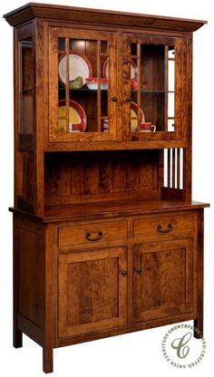 Cambridge Arts And Crafts Hutch | Shaker Mission Dining Hutches | Clear  Creek Amish Furniture | Doors. . . Beds U0026 Stuff | Pinterest | Dining Hutch,  ...