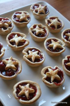Mini cherry pies (or could do apple pie) for the 4th of July!