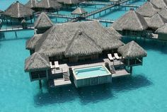 The St. #Regis #Bora Bora #Water #Banglow Resorts
