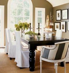 Green Street: Inspiration: Dining Room Turned Leg Table.  Table Tia Zoldan design