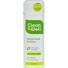 CleanWell All-Natural Hand Sanitizer Spray Alcohol-Free - 1 fl oz - Case of 24 - CleanWell All-Natural Hand Sanitizer Spray Alcohol-Free Description: All-Natural Hand Sanitizer Made with Ingenium Proven to kill 99.99% of Germs Naturally Alcohol Free 225+ Sprays CleanWell hand sanitizers are made with Ingenium, a patented formulation of essential plant oils lab proven to kill 99.9% of the harmful germs that can make you sick. CleanWell is the only hand sanitizer that is all-natural and…