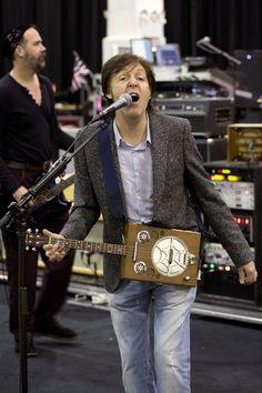 Sir Paul McCartney at rehearsals, 12-12-12 Hurricane Sandy Benefit, Madison Square Garden, NYC, 10 December 2012