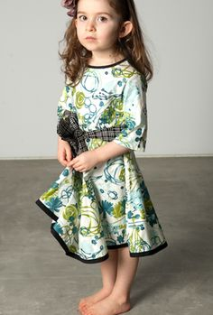 Redfish Kids Clothing Online Store - The 3/4 Sleeve Lucky Dress A
