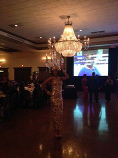 corporate entertainment chandelier dancer