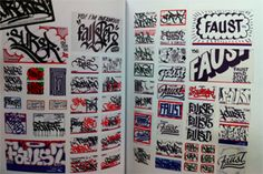 Handstyle fiends, Faust and Sure(RIP flexxin their wide range of smooth flowing signatures.
