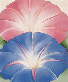 Georgia O'Keeffe Blue Morning Glories New Mexico 1935