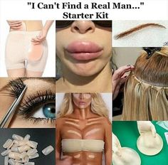 The I cant find a real man starter kit.