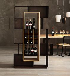 Acquista on-line Mooie By elite to be, libreria in ferro, Collezione eno Rack Design, Shelf Design, Cabinet Design, Bar Unit, Deco Restaurant, Wine Shelves, Home Bar Designs, Wine Cabinets, Design Furniture