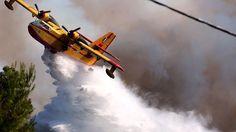 Σε εξέλιξη η φωτιά στην Αγία Άννα Εύβοιας - Δεν κινδυνεύουν κατοικημένες περιοχές