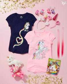 Happiness is unicorn style & accessories!