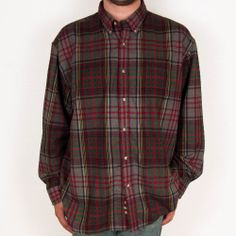 RedHead Plaid Shirt Flannel Mens 2XL XXL Outdoor Hunting Soft Cotton Button #SomeLikeItUsed