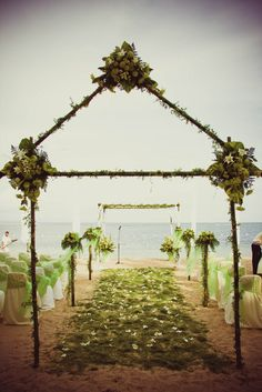 "Beach Wedding ""My Lime Green Beach Wedding"" 