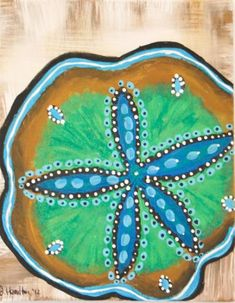 Sand Dollar Painting by 30DegreesBleu