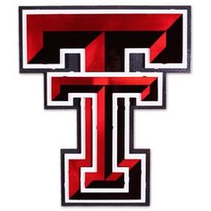"Texas Tech University ""Double T"" Hex Head Art Work Red/black"
