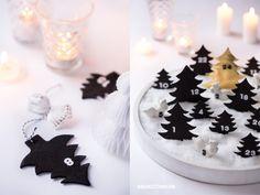 * Nicest Things - Food, Interior, DIY: Buddel-Adventskalender: Schneelandschaft in Weiß & Gold