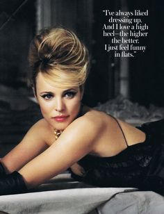 Oh No They Didn't! - InStyle Magazine Editorial - Rachel McAdams (Nov. 2010) beehive up do