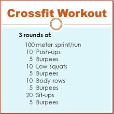 Crossfit Workout will be my WOD starting Monday...hopefully my Team GERONIMO will do it with me to Log hours for THrive across Hawaii