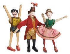 The Well-Bred Doll: 235 Three American Circus Performers by Schoenhut with Bisque Heads