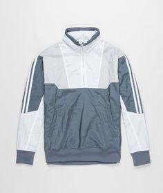 Half zip Track top inspired by vintage adidas football kit,