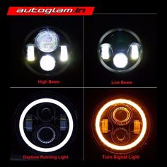 CREE LED headlights provides a unique and fresh look to the bike. It has wonderful light output in any weather condition. Motorbike Accessories, Car Accessories, 4 Door Jeep Wrangler, High Beam, Royal Enfield, Led Headlights, Beams, Stuff To Buy, India