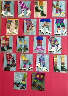 14 Wonderful Winter Art Projects for Kids Classroom Art Projects, School Art Projects, Art Classroom, Art Patin, Arte Elemental, 2nd Grade Art, Winter Art Projects, Skate Art, Ecole Art